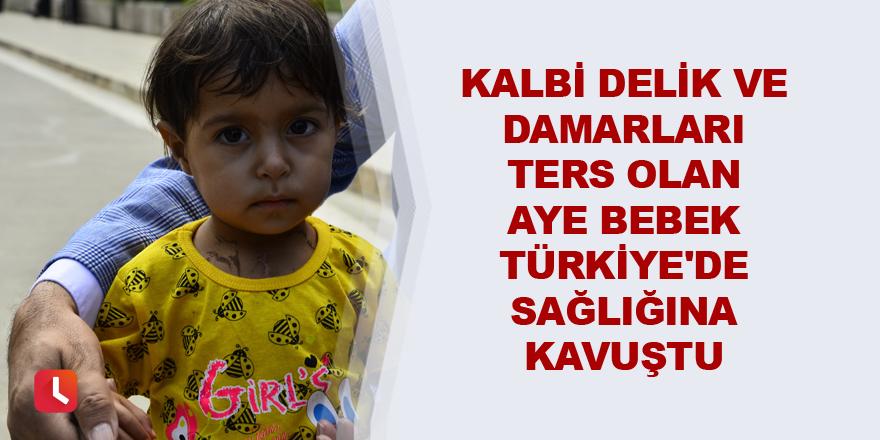 Damarları ters Aye bebek Türkiye'de sağlığına kavuştu
