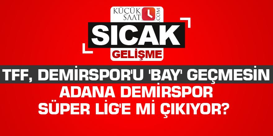 Adana Demirspor Süper Lig'e mi çıkıyor?