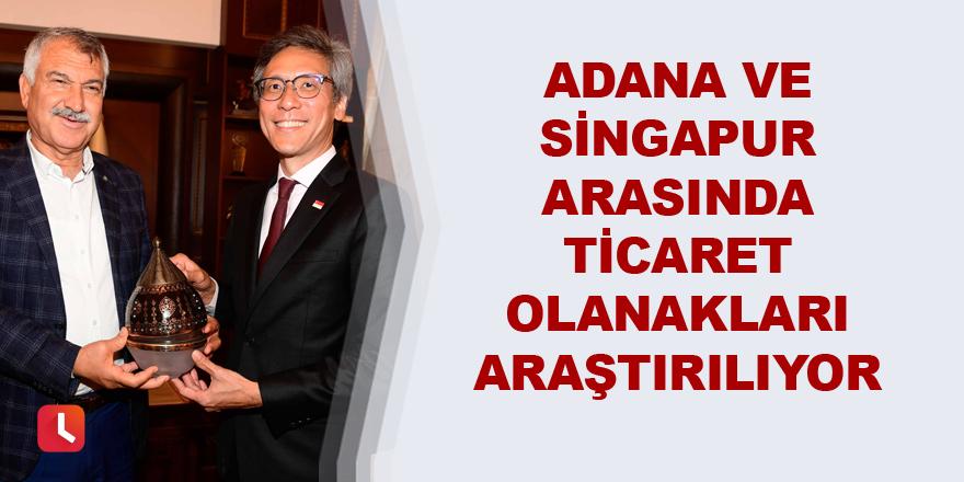 Adana ve Singapur arasında ticaret olanakları araştırılıyor