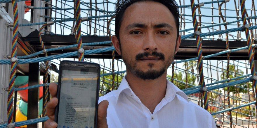 Gazi Uzman Çavuş Uğur Dağdeviren uluslararası dolandırıcının tuzağına düşmedi