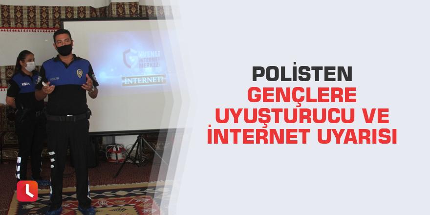 Polisten gençlere uyuşturucu ve internet uyarısı