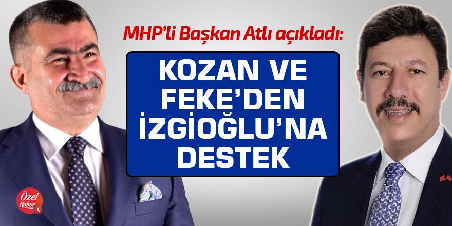 MHP Kozan ve Feke'de İzgioğlu'na destek açıklaması