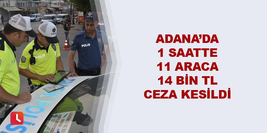Adana'da 1 saatte 11 araca 14 bin TL ceza kesildi