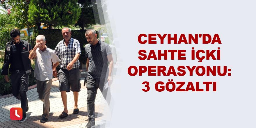 Ceyhan'da sahte içki operasyonu: 3 gözaltı