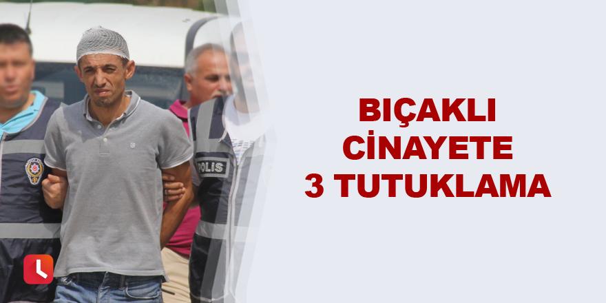 Bıçaklı cinayete 3 tutuklama