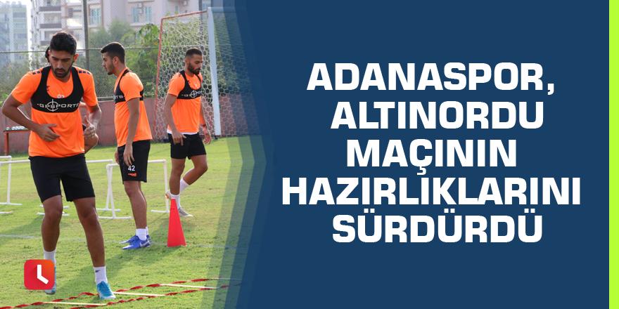 Adanaspor, Altınordu maçının hazırlıklarını sürdürdü
