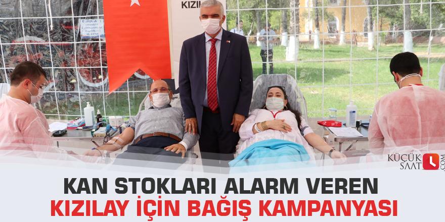 Kan stokları alarm veren Kızılay için bağış kampanyası