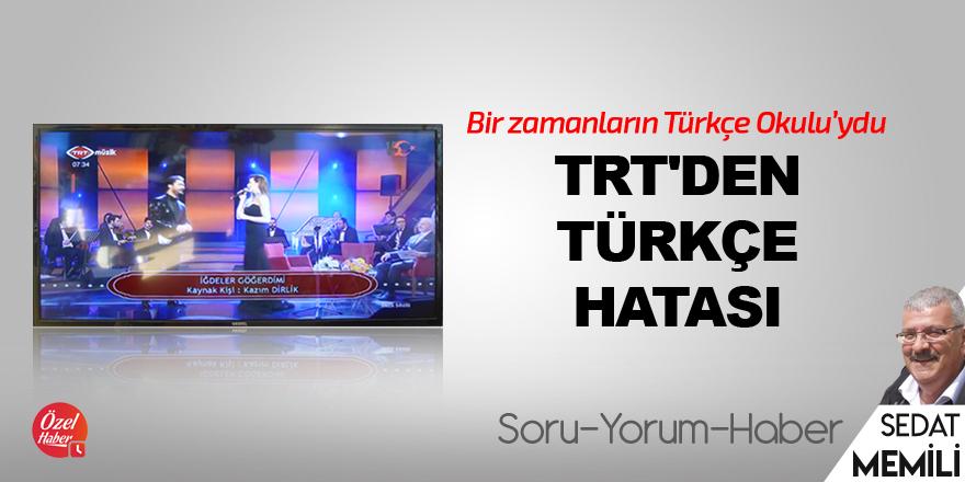 TRT'den Türkçe hatası