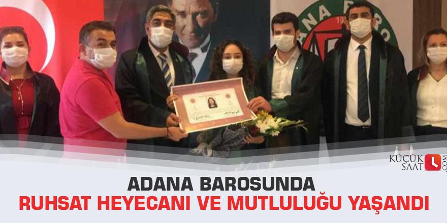 Adana Barosunda Ruhsat Heyecanı Ve Mutluluğu Yaşandı