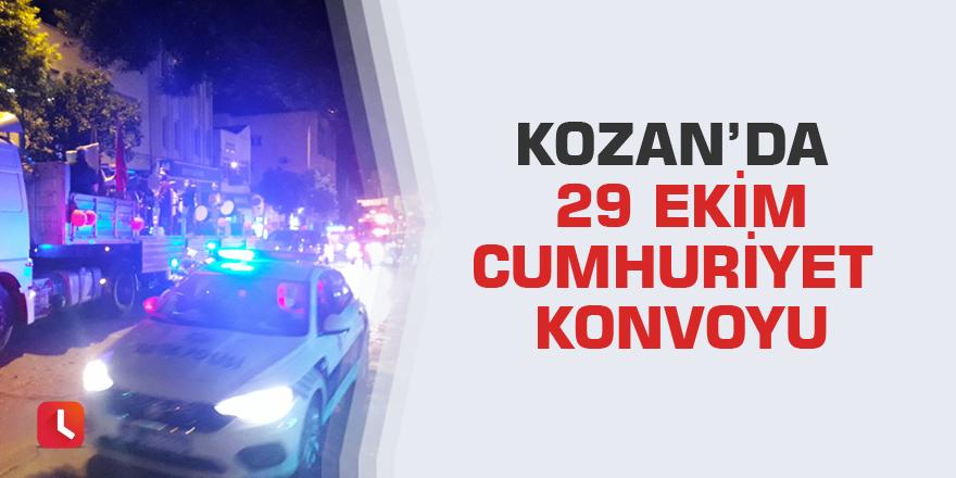Kozan'da 29 Ekim Cumhuriyet konvoyu