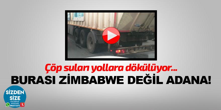 Burası Zimbabwe değil Adana!