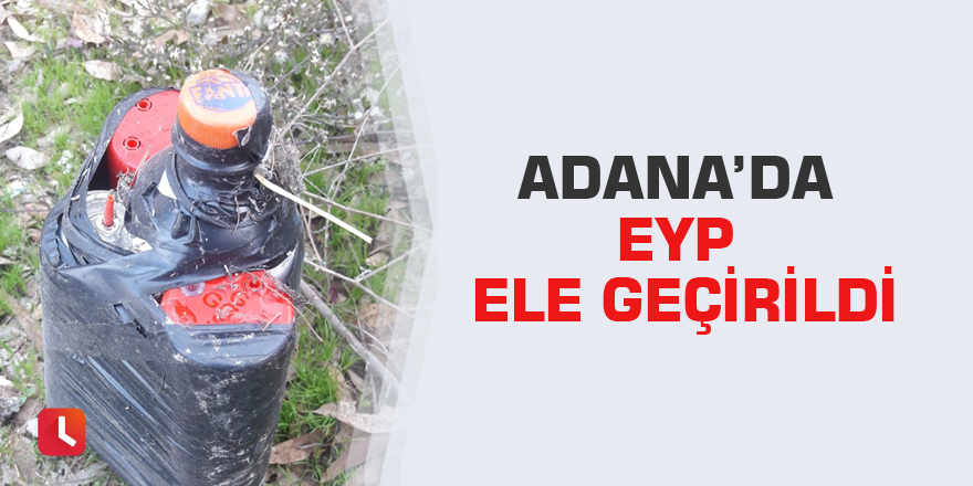 Adana'da EYP ele geçirildi