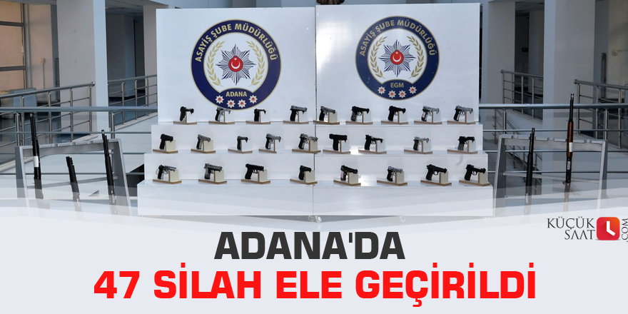Adana'da 47 silah ele geçirildi