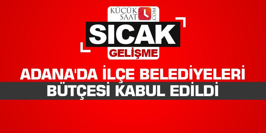 Adana'da ilçe belediyeleri bütçesi kabul edildi