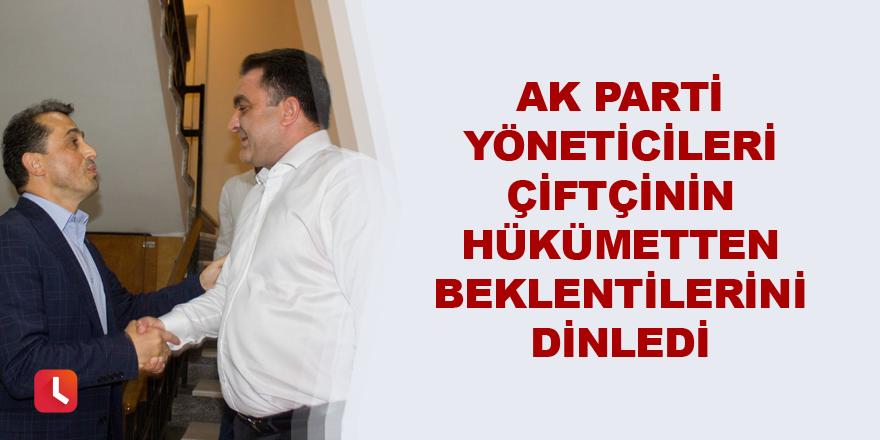 AK Parti yöneticileri çiftçinin hükümetten beklentilerini dinledi