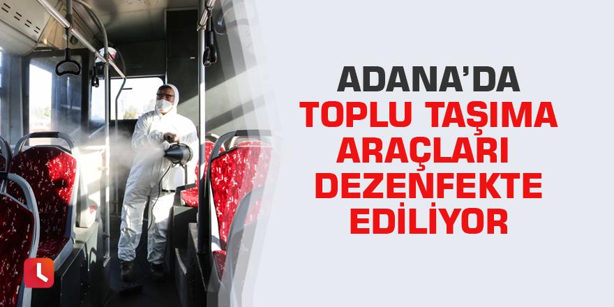 Adana'da toplu taşıma araçları dezenfekte ediliyor