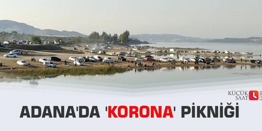 Adana'da 'korona' pikniği