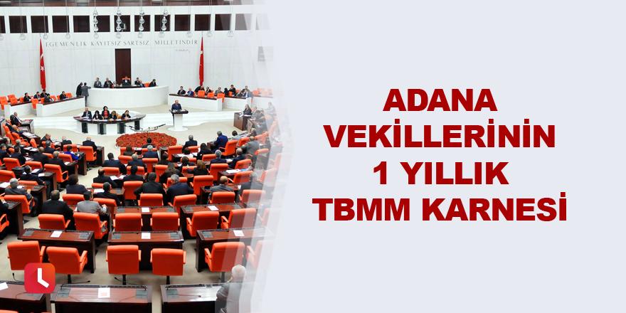 Adana milletvekillerinin 1 yıllık TBMM karnesi