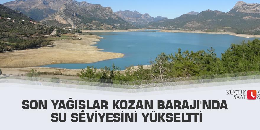 Son yağışlar Kozan Barajı'nda su seviyesini yükseltti