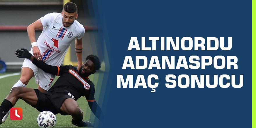 Altınordu - Adanaspor maç sonucu