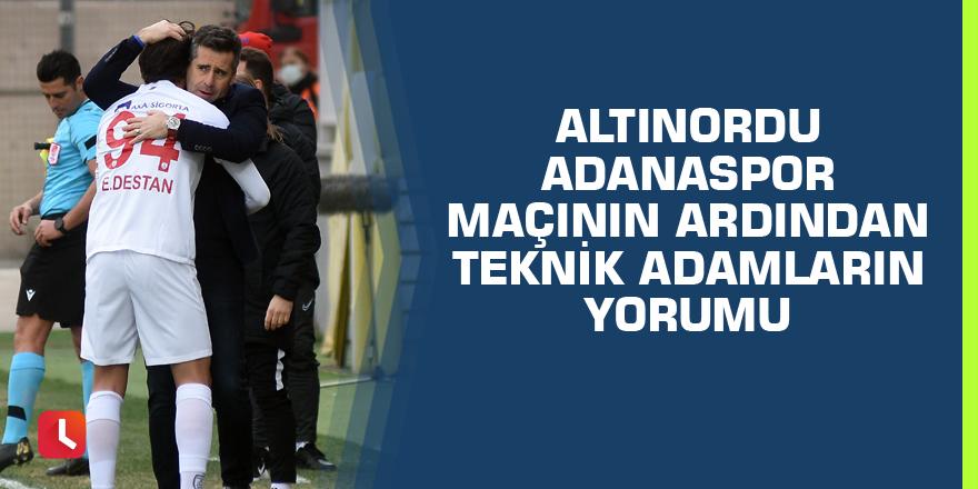Altınordu - Adanaspor maçının ardından teknik adamların yorumu