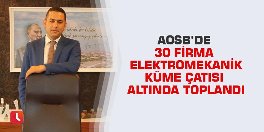 AOSB'de 30 firma elektromekanik küme çatısı altında toplandı