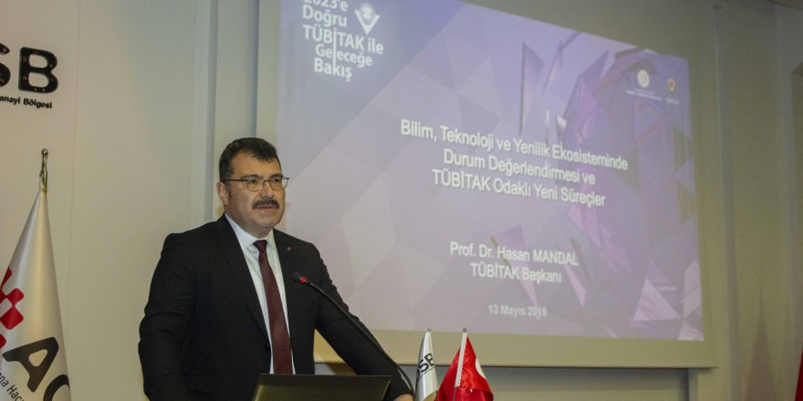 TÜBİTAK Başkanı Prof. Dr. Hasan Mandal AOSB Başkanlığının konuğu oldu