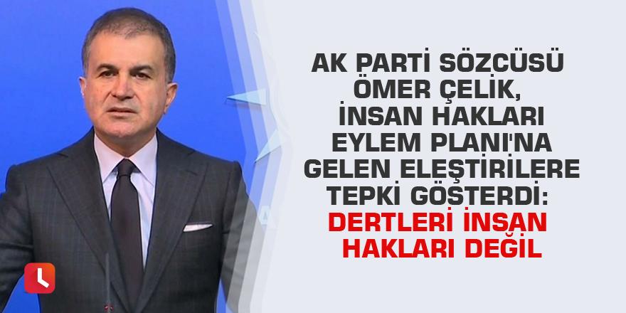 AK Parti Sözcüsü Ömer Çelik, İnsan Hakları Eylem Planı'na gelen eleştirilere tepki gösterdi: Dertleri insan hakları değil