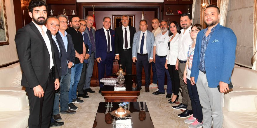 Zeydan Karalar ile AYAMDER Başkanı ve yönetim kurulu üyeleri görüştü