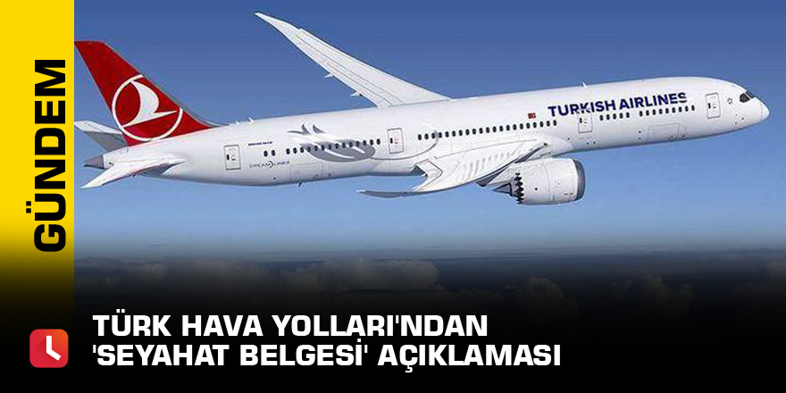 Türk Hava Yolları'ndan 'seyahat belgesi' açıklaması