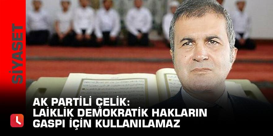 AK Partili Çelik: Laiklik demokratik hakların gaspı için kullanılamaz