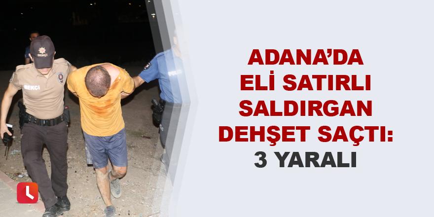 Adana'da eli satırlı saldırgan dehşet saçtı: 3 yaralı