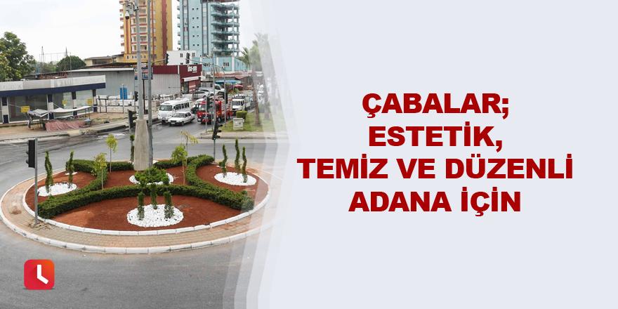 Çabalar; estetik, temiz ve düzenli Adana için