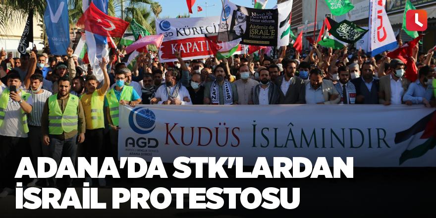 Adana'da STK'lardan İsrail protestosu