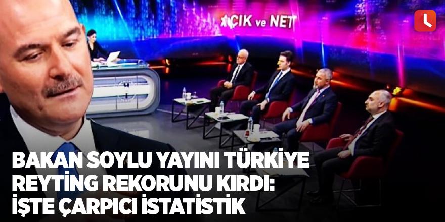 Soylu yayını Türkiye reyting rekorunu kırdı: İşte çarpıcı istatistik