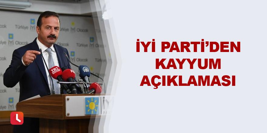 İYİ Parti'den kayyum açıklaması