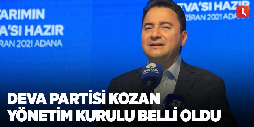 DEVA Partisi Kozan İlçe Yönetim Kurulu belli oldu
