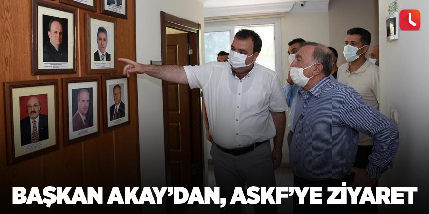 Başkan Akay'dan, ASKF'ye ziyaret