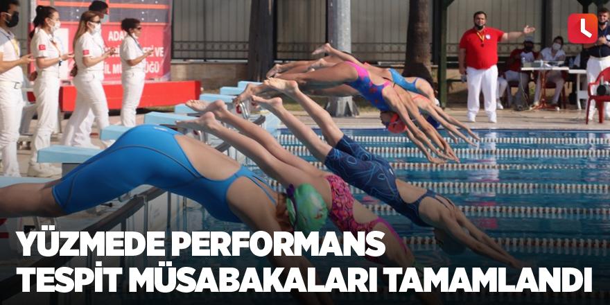 Yüzmede performans tespit müsabakaları tamamlandı