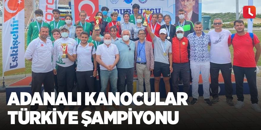 Adanalı kanocular Türkiye Şampiyonu