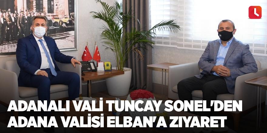 Adanalı Vali Tuncay Sonel'den Adana Valisi Elban'a ziyaret