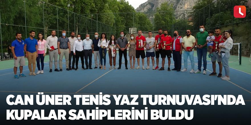 Can Üner Tenis Yaz Turnuvası'nda kupalar sahiplerini buldu