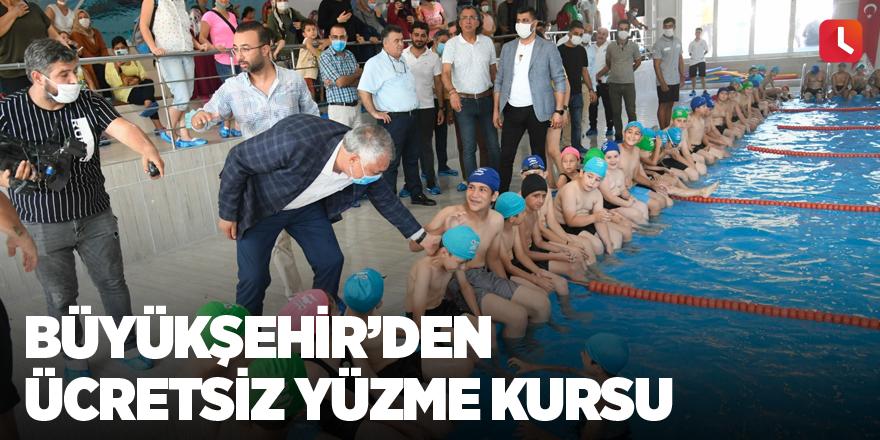 Büyükşehir'den ücretsiz yüzme kursu