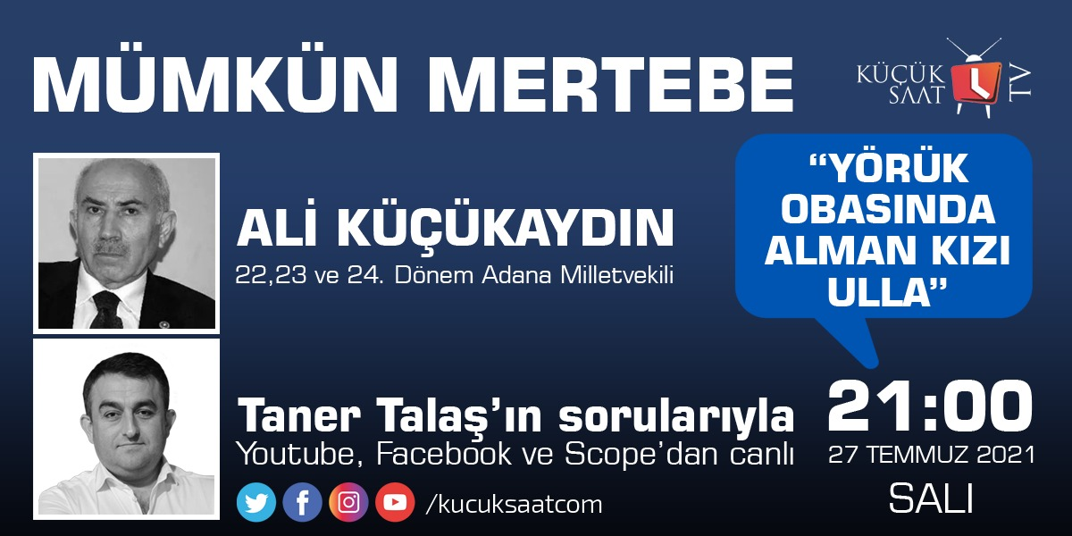 Ali Küçükaydın Taner Talaş'ın konuğu oluyor