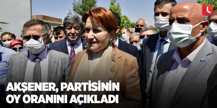 Akşener, partisinin oy oranını açıkladı