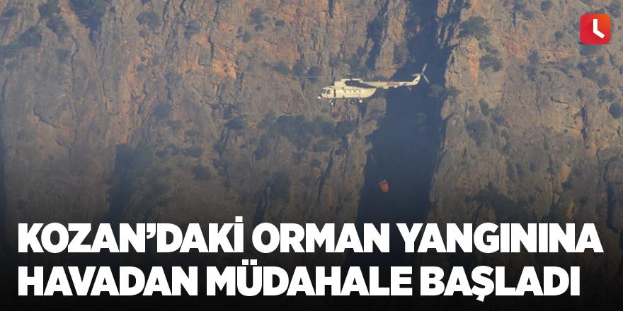 Kozan'daki orman yangınına havadan müdahale başladı
