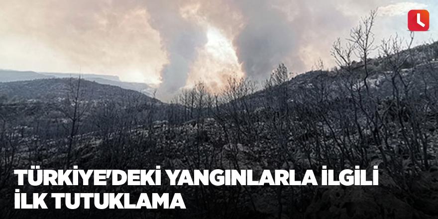 Türkiye'deki yangınlarla ilgili ilk tutuklama