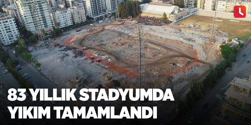 83 yıllık stadyumda yıkım tamamlandı