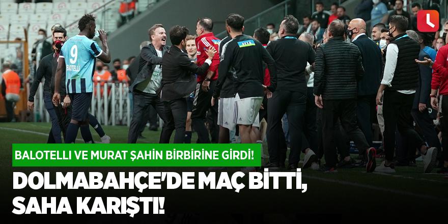 Dolmabahçe'de maç bitti, saha karıştı!