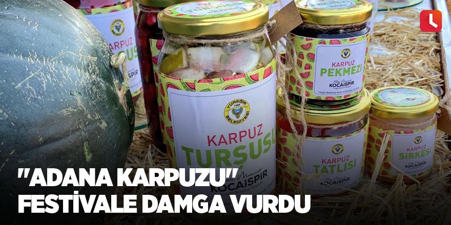 """""""Adana karpuzu"""" festivale damga vurdu"""